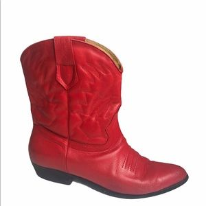 VINTAGE | BRASS PLUM Cherry Leather Cowboy Boots